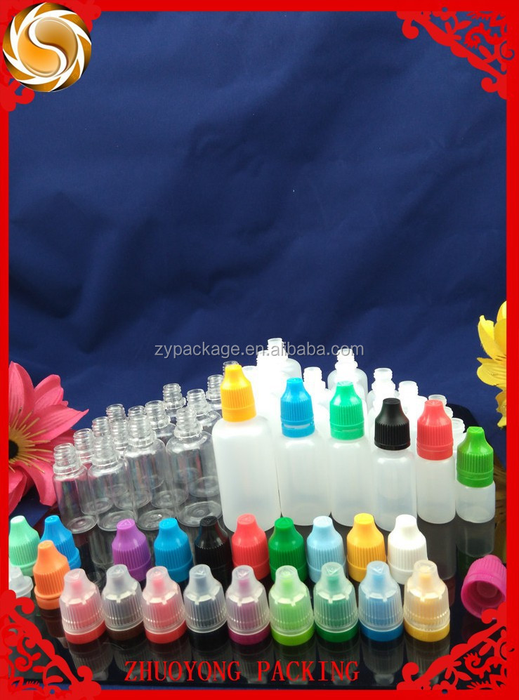 Free Sample!! Good Qulity 10 ml pe e-liquid Bottles With Tampe& Childproof Cap
