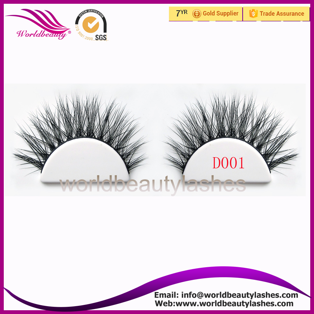 wholesale price Luxury 3D mink fur false strip eyelashes