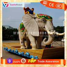 Animatronics handicraft elephant figurine life size rubber animal
