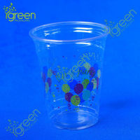 glass look plastic beer cup
