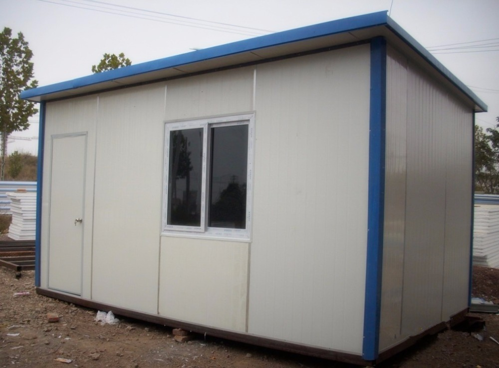 Custom made steel structure flat roof container house low price for sale