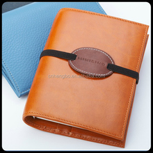 Factory supplier newest trendy style leather diary notebook