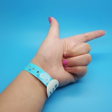 Colorful and popular design 13.56MHz Paper Disposable RFID Wristbands