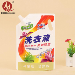 High quality liquid custom printing resealable detergent stand up pouch washing powder packaging bag