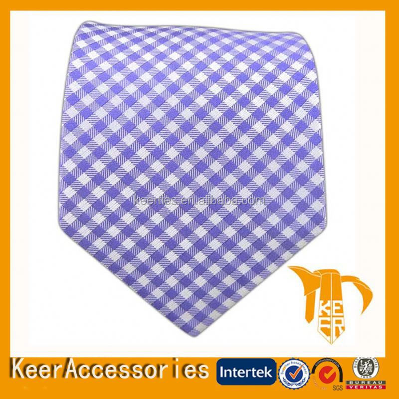 Small check hand made necktie chinese tie