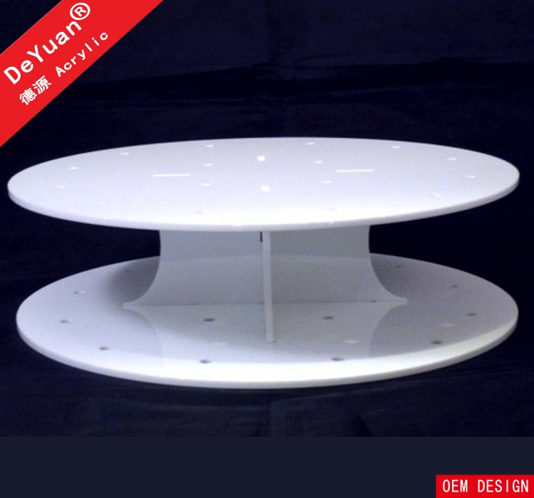 White Cupcake Stand / Round Display Stands Wedding Party Decorating