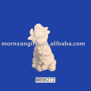 unpainted white resin figurine