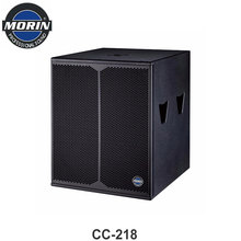Professional 18 inch Super bass subwoofer speaker box with 1600W Morin CC-218