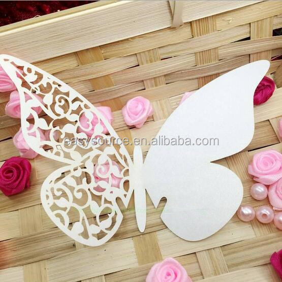 Butterfly design hot sale & high quality laser Cutting Place Card for wine glass Wedding seat place card BK29