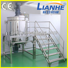 CE customized size mixing tank agitator shampoo ,lotion making equipment