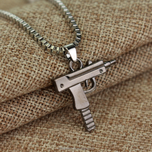 Pistol Pendant Unisex Submachine Gun Pendant Chain Necklace For Men/Women Hip Hop Jewelry
