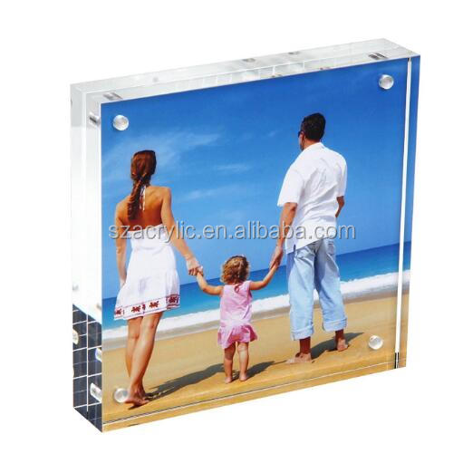 custom acrylic table tent label magnet frame