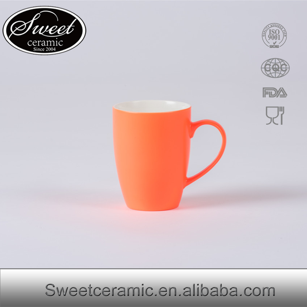 New orange color ceramic mug for coffee/drinking