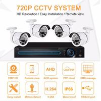Outdoor Wireless Wifi 720p Hd 1mp Ip Camera 4ch Nvr Kits Cctv Camera Security System,Poe Nvr Kit