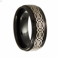 Fashion Unisex Popular Couple Gothic Engagement Tungsten Rings