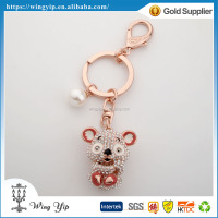 Custom made good quality Animals Squirrel Silver Plated 3D Key Chain