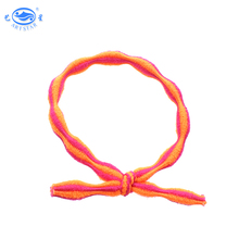 Wholesale elastic durable colored stripe hair mini rubber band