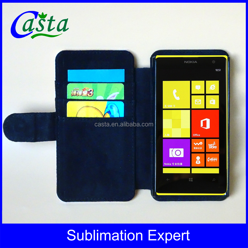 Customized Blank Sublimation Cell Phone Wallet Case Folio Flip Leather Wallet Flap Pouch Phone Case for Microsoft Lumia 1020