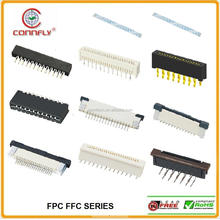 High quality 2.54mm pitch zif v/t smd type LCD FFC/FPC connector & FFC flat cable with CE FCC certificated