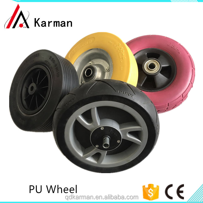 Plastic rim 10 inch 4.10 / 3.50-4 rubber wheel for toy car hand truck
