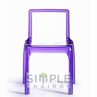 side bright colored plastic acrylic chair