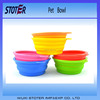 100% Food Grade collapsible silicone rubber pet bowls