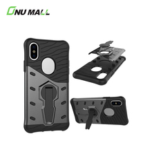 New Arrival 3 in 1 360 Degrees Rotation Shockproof Phone Cover Case for iPhone X with Holder