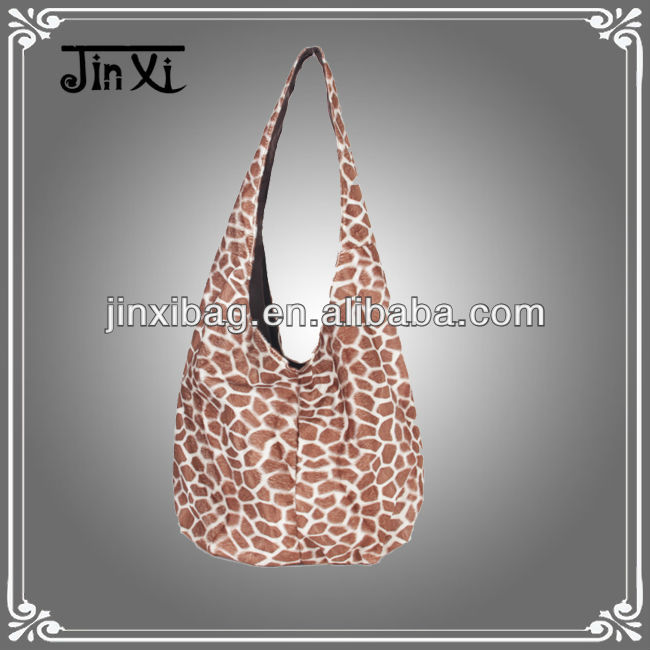 Winter imitation wool hobo bags for lady