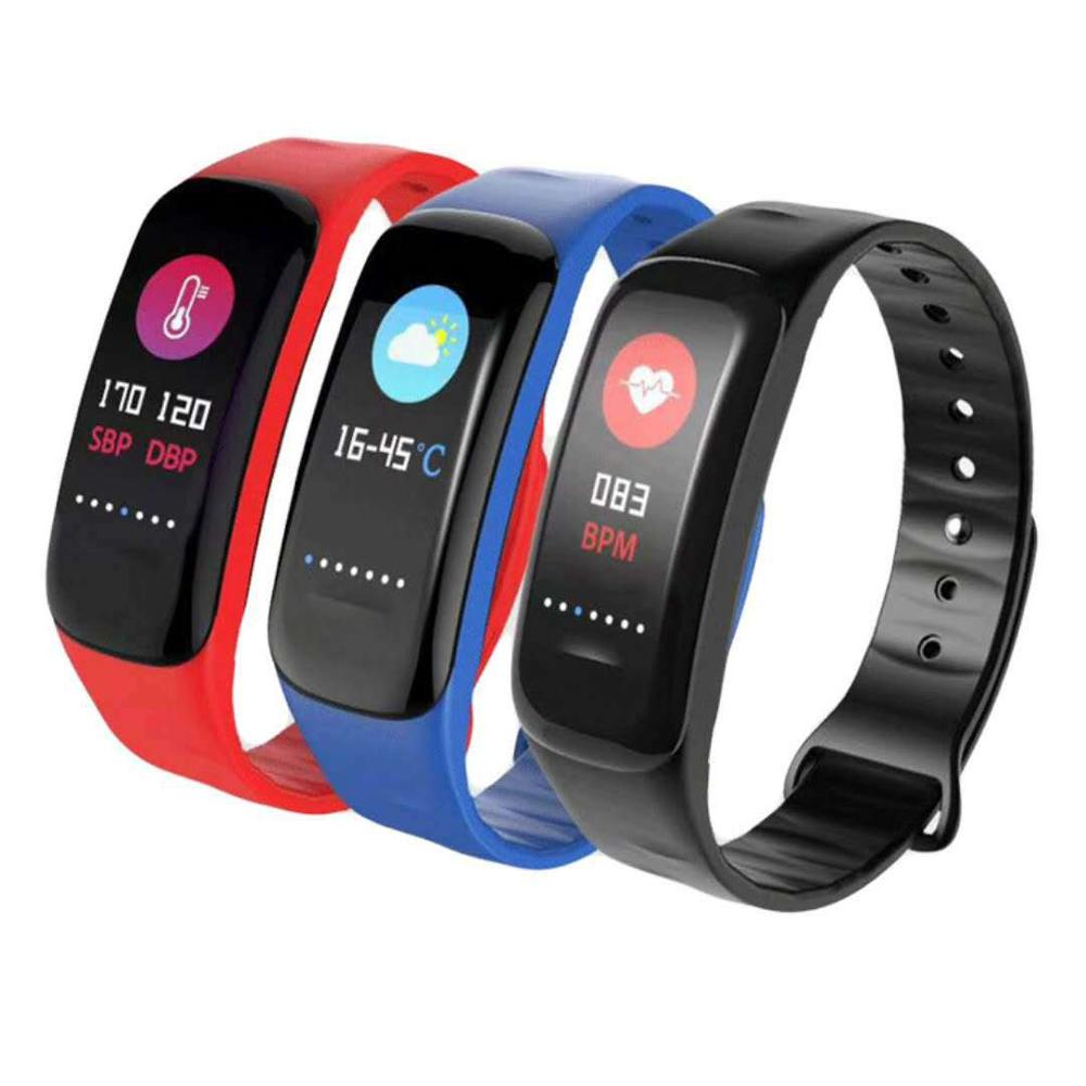 Colorful Screen IP67 Heart Rate Monitoring BT 4.0 <strong>C1</strong> PLUS smart wristband bracelet Waterproof smart watch