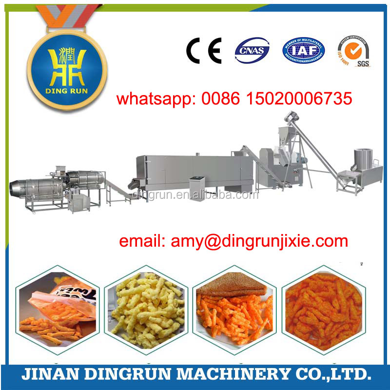 Low Price Automatic Extruded Corn Grits Nik Nak Production Line