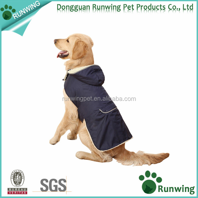 Winter Warm Fleece Jacket For Medium Large Dogs Enough Padding Polyester