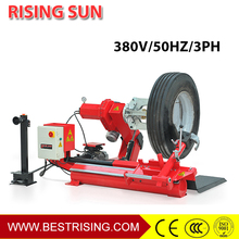 Truck tire changer wheel repair machine