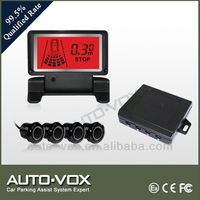 manufacturer LCD parking sensor system car reverse backup radar with automatic display with 4 sensors