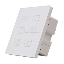 tempered glass remote control dimmer <strong>switch</strong> 6 key for smart home