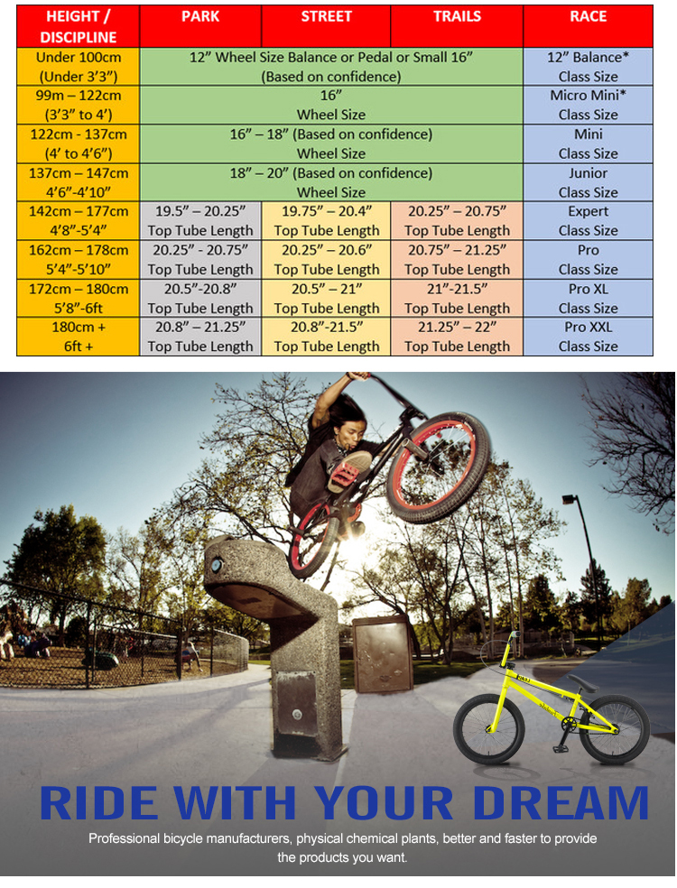 Wholesale all kinds of price cheap custom high end 16 inch street halfpipe freestyle bicicleta bmx mini bikes bmx bicycle