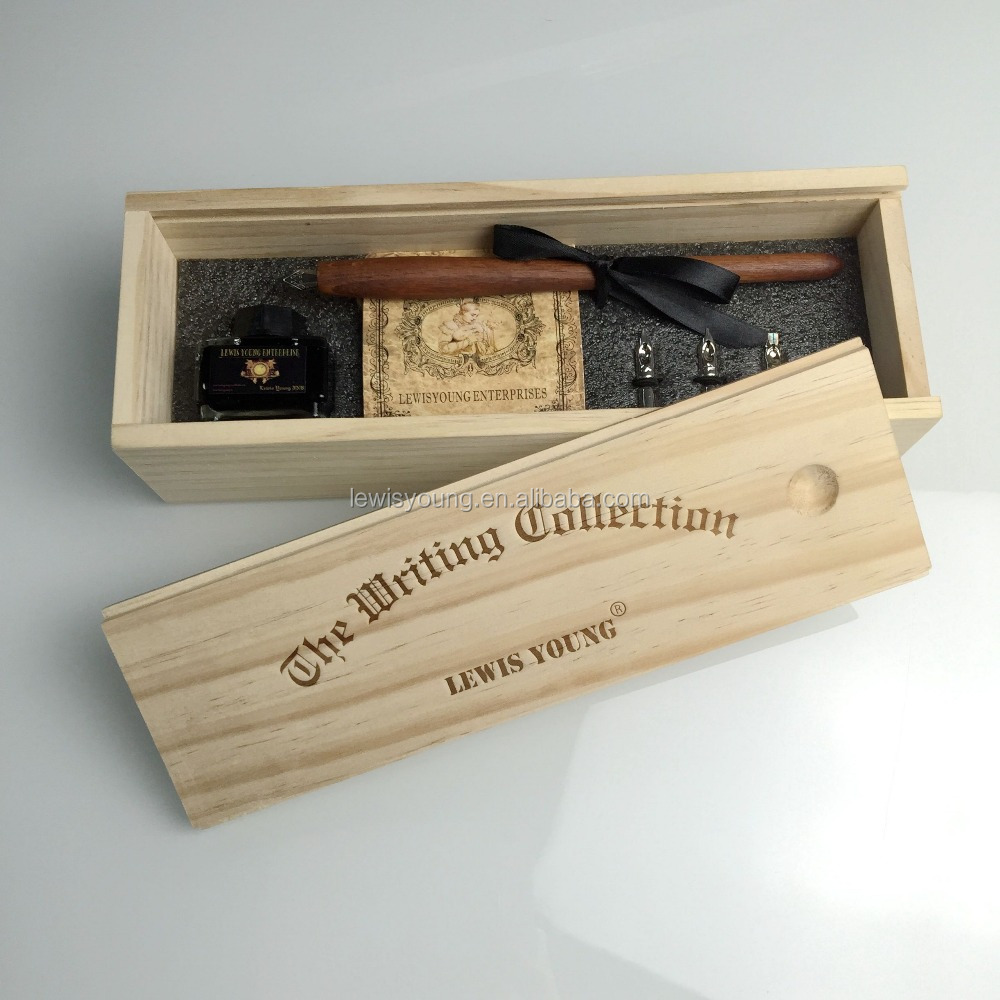 France style Calligraphy wood pen set/Wood fountain pen with gift box