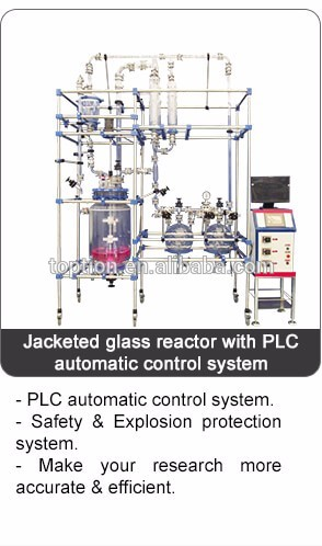Customized pharmaceutical lifting Glass Reactor 10L~100L