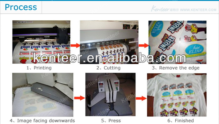 Kenteer high quality laser cutting dark inkjet sublimation transfer paper