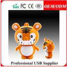 cartoon 3d usb , 4gb branded hippo silicon customized pvc usb flash drive/usb gift/usb stick