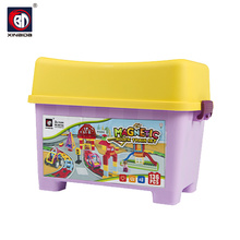 Assembly toy railway toy train magnetic building tiles