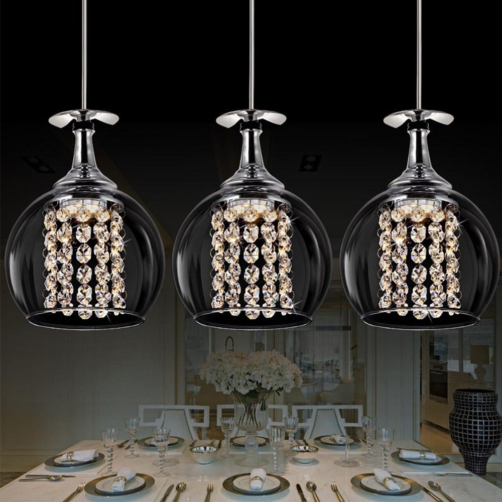 LED Bottle shape clear modern glass pendant ceiling <strong>lights</strong> for home