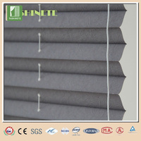 China office design wrinkle retractable pleated blinds/fabric curtain