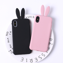 TOMOCOMO Coque Silicone 3D Cute Bunny Rabbit Ears Tail Back Phone Coque Cover For Apple iPhone 6 6s plus 7 plus 5 5S SE Case