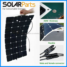 100W high efficiency semi- flexible solar panels solar modules for RV/Boat/Golf cart/Marine/Yachts/Home use