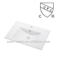 SN1548-60 A popular cupc white ceramic modern bathroom vanity sink