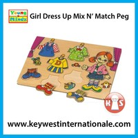 Girl Dress Up Mix N' Match Peg