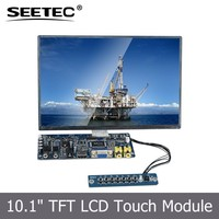 Hot Sell 10.1'' Embedded TFT Round SKD lcd display module controller for Industrial Vehicle Navigation Systems