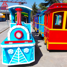 Amusement park mini electric trackless train rides for sale