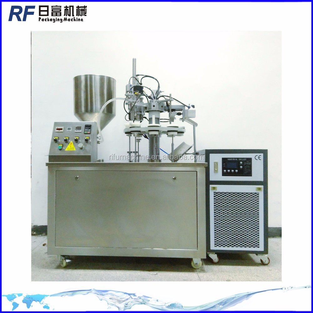 Tube potato mash jar filling machine
