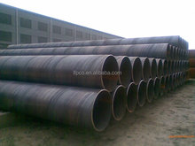 black coated API 5L Spiral steel pipe with steel pipe penstock